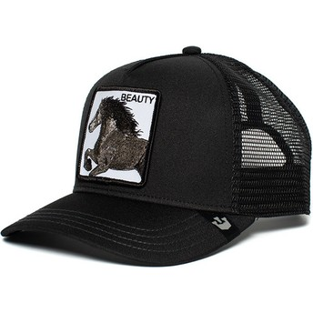 Boné trucker preto cavalo Black Beauty da Goorin Bros.