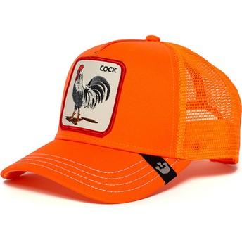 Boné trucker laranja galo Hot Male da Goorin Bros.