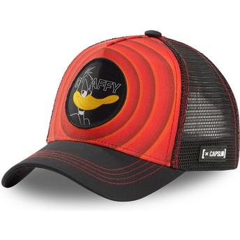 Boné trucker vermelho e preto Patolino Bullseye Color Rings LOO DAF1 Looney Tunes da Capslab