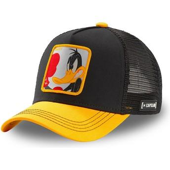 Boné trucker preto e amarelo Patolino LOO DUK Looney Tunes da Capslab