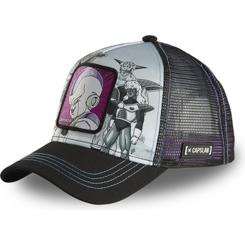 Boné trucker cinza e preto Frieza ARM CL Dragon Ball da Capslab