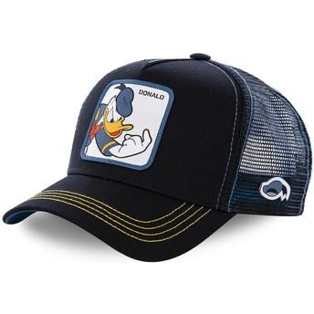 Boné trucker preto para criança Pato Donald KID_DON2 Disney da Capslab