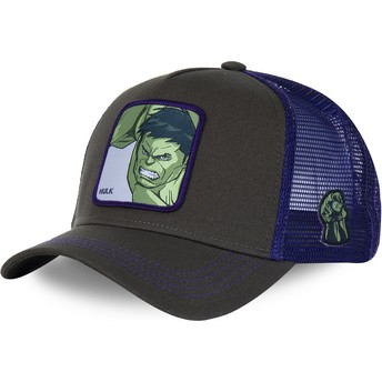 Boné trucker cinza e violeta para criança Hulk KID_HLK1 Marvel Comics da Capslab