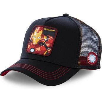 Boné trucker preto para criança Iron Man KID_IRO2 Marvel Comics da Capslab