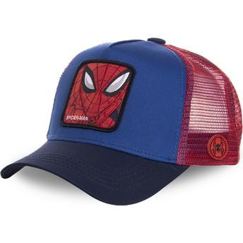 Boné trucker azul e vermelho para criança Spider-Man KID_SPI1 Marvel Comics da Capslab