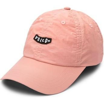 Boné curvo rosa ajustável Stop And Pink Petal Pink da Volcom