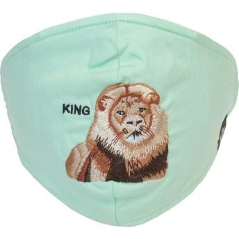 Máscara reutilizável verde hortelã leão Mane Cat da Goorin Bros.