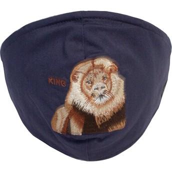 Máscara reutilizável azul marinho leão Mane Cat da Goorin Bros.