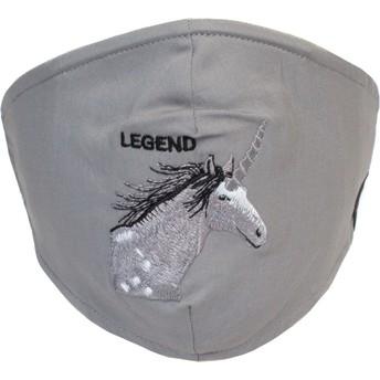 Máscara reutilizável cinza unicórnio Living Legend da Goorin Bros.