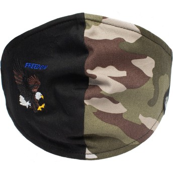 Máscara reutilizável preta e camuflagem águia High Flyer da Goorin Bros.