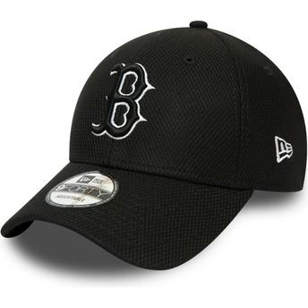 Boné curvo preto ajustável 9FORTY Diamond Era Essential da Boston Red Sox MLB da New Era