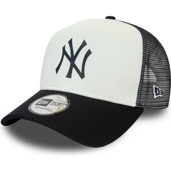 Boné trucker branco e azul marinho Team Colour Block A Frame da New York Yankees MLB da New Era
