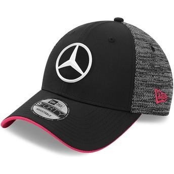 Boné curvo preto ajustável 9FORTY Tonal eSports da Mercedes Formula 1 da New Era