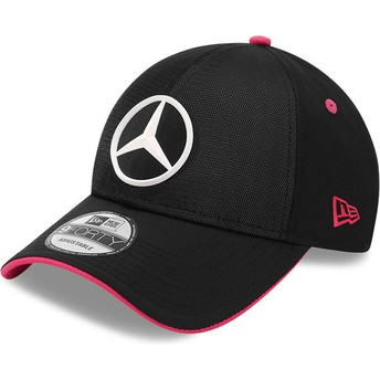 Boné curvo preto ajustável 9FORTY Draft eSports da Mercedes Formula 1 da New Era