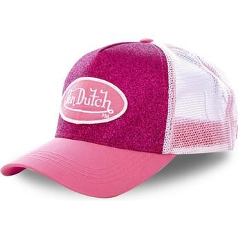 Boné trucker rosa PIN da Von Dutch
