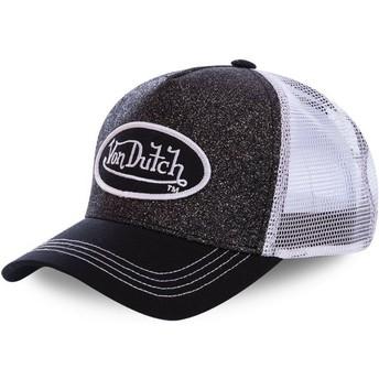 Boné trucker preto e branco WH2 da Von Dutch