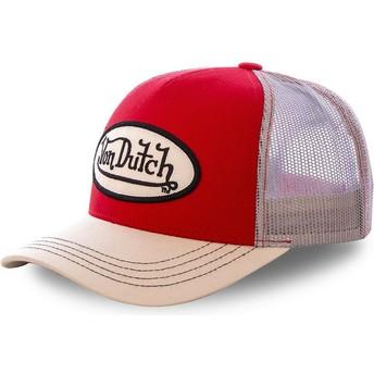 Boné trucker vermelho e khaki COLRED da Von Dutch