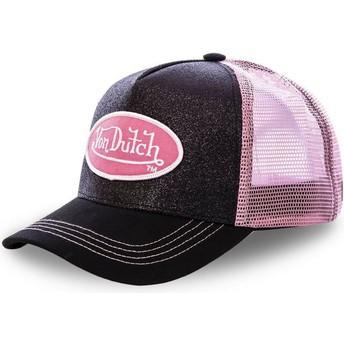 Boné trucker preto e rosa FLAK BLA da Von Dutch