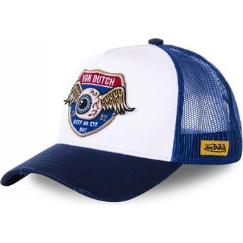 Boné trucker branco e azul HIG1 da Von Dutch