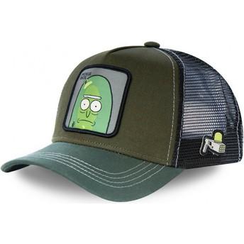 Boné trucker verde Pickle Rick REM PIC2 Rick e Morty da Capslab