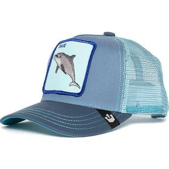 Boné trucker azul para criança golfinho Ocean Vibes da Goorin Bros.
