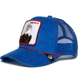 Boné trucker azul águia America For Real da Goorin Bros.