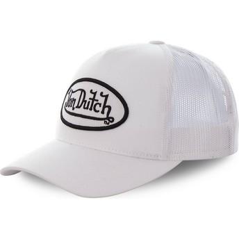 Boné trucker branco COL WHI da Von Dutch