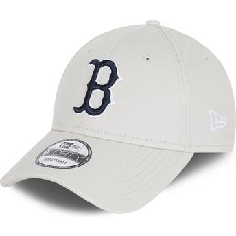 Boné curvo branco ajustável 9FORTY League Essential da Boston Red Sox MLB da New Era
