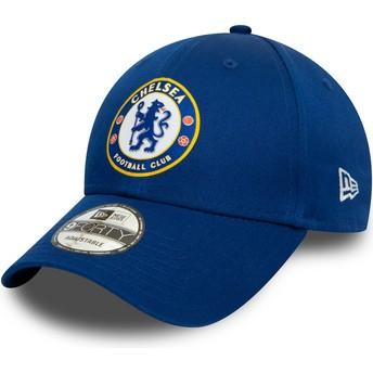 Boné curvo azul snapback 9FORTY Chelsea Football Club da New Era