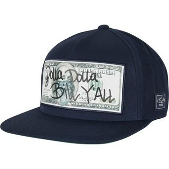 Boné plano azul marinho snapback WL Dolla Billy da Cayler & Sons