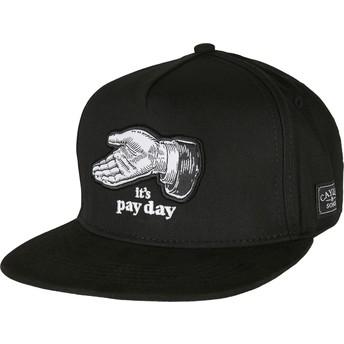 Boné plano preto snapback WL Pay Me da Cayler & Sons