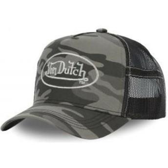 Boné trucker camuflagem CAM SIL da Von Dutch