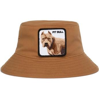 Chapéu balde castanho cão pitbull Misunderstood da Goorin Bros.