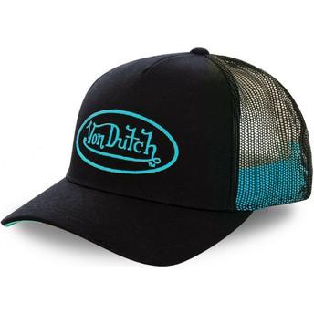 Boné trucker preto com logo ciano NEO CYA da Von Dutch