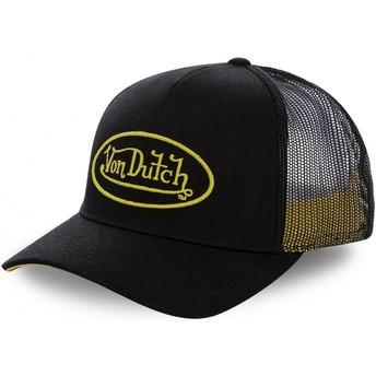 Boné trucker preto com logo amarelo NEO YEL da Von Dutch