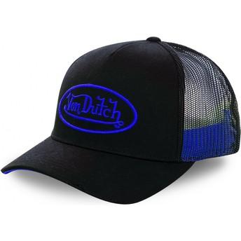 Boné trucker preto com logo azul NEO BLU da Von Dutch