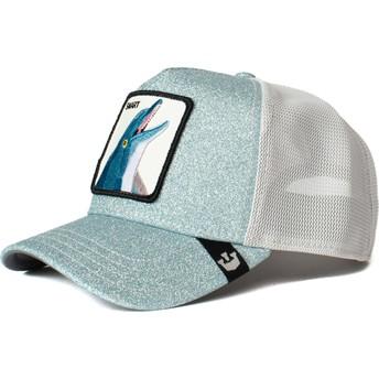 Boné trucker azul golfinho Flippy Floppy da Goorin Bros.