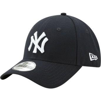 Boné curvo azul marinho ajustável 9FORTY The League da New York Yankees MLB da New Era