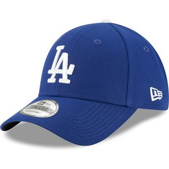 Boné curvo azul ajustável 9FORTY The League da Los Angeles Dodgers MLB da New Era