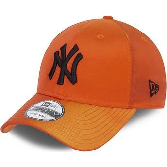 Boné curvo laranja ajustável 9FORTY Hypertone da New York Yankees MLB da New Era
