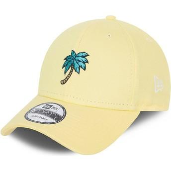 Boné curvo amarelo ajustável 9FORTY Sports Palm Tree da New Era