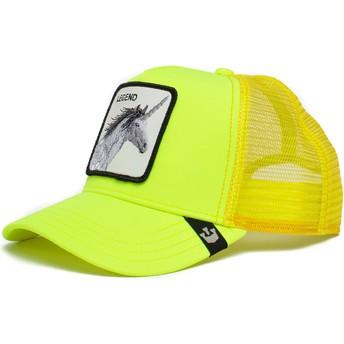 Boné trucker amarelo unicórnio Legend Show Pony The Farm da Goorin Bros.