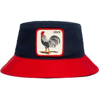 Chapéu balde azul marinho e vermelho galo Cock Americana The Farm da Goorin Bros.