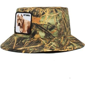 Chapéu balde camuflagem cão Pitbull Misunderstood The Farm da Goorin Bros.