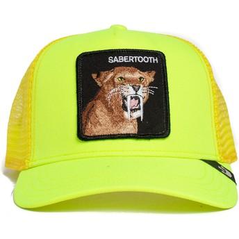 Boné trucker amarelo dents da sabre Sabertooth Tootache The Farm da Goorin Bros.