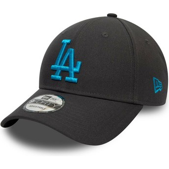 Boné curvo cinza snapback com logo azul 9FORTY REPREVE Pop Logo da Los Angeles Dodgers MLB da New Era