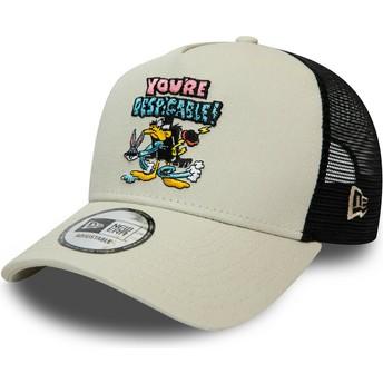 Boné trucker cinza Character A Frame Patolino Looney Tunes da New Era