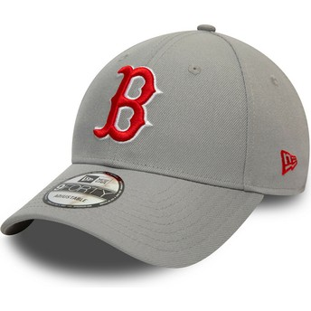 Boné curvo cinza snapback 9FORTY REPREVE Pop Logo da Boston Red Sox MLB da New Era