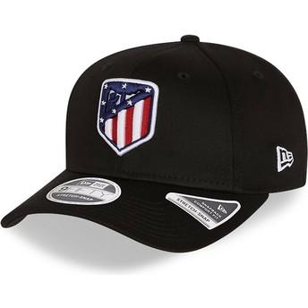 Boné curvo preto snapback 9FIFTY Essential Stretch Fit da Atlético de Madrid LFP da New Era