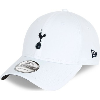 Boné curvo branco ajustável 9FORTY Rubber Patch da Tottenham Hotspur Football Club da New Era